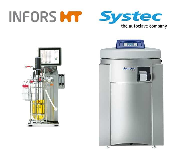 Bioréacteur avec autoclaves de laboratoire Systec
